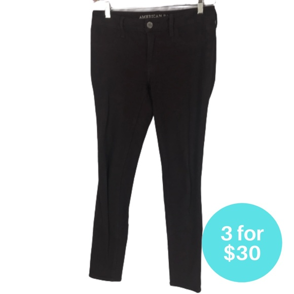 3/$30 - American Eagle Outfitters Black Jeggings 4